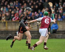 20 February 2016; Conor Boylan, Ardscoil Ris, in action against Brian McGrath, Our Ladys Templemore. Dr. Harty Cup Final, Ardscoil Ris v Our Ladys Templemore, McDonagh Park, Nenagh, Co. Tipperary. Picture credit: Sam Barnes / SPORTSFILE