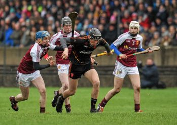 20 February 2016; Conor Boylan, Ardscoil Ris, in action against Conor O'Meara, left, Our Ladys Templemore. Dr. Harty Cup Final, Ardscoil Ris v Our Ladys Templemore, McDonagh Park, Nenagh, Co. Tipperary. Picture credit: Sam Barnes / SPORTSFILE