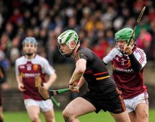 20 February 2016; Nathan Fox, Ardscoil Ris, in action against Paul O'Brien, Our Ladys Templemore. Dr. Harty Cup Final, Ardscoil Ris v Our Ladys Templemore, McDonagh Park, Nenagh, Co. Tipperary. Picture credit: Sam Barnes / SPORTSFILE