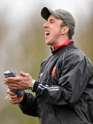 20 February 2016; Niall Moran, Ardscoil Ris Manager. Dr. Harty Cup Final, Ardscoil Ris v Our Ladys Templemore, McDonagh Park, Nenagh, Co. Tipperary. Picture credit: Sam Barnes / SPORTSFILE