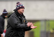 20 February 2016; Noel Fogarty, part of Our Ladys Templemore Management Team. Dr. Harty Cup Final, Ardscoil Ris v Our Ladys Templemore, McDonagh Park, Nenagh, Co. Tipperary. Picture credit: Sam Barnes / SPORTSFILE