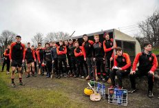 20 February 2016; A view of the Ardscoil Ris dugout late in the game. Dr. Harty Cup Final, Ardscoil Ris v Our Ladys Templemore, McDonagh Park, Nenagh, Co. Tipperary. Picture credit: Sam Barnes / SPORTSFILE