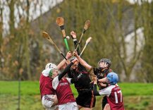 20 February 2016; A general view of the action. Dr. Harty Cup Final, Ardscoil Ris v Our Ladys Templemore, McDonagh Park, Nenagh, Co. Tipperary. Picture credit: Sam Barnes / SPORTSFILE