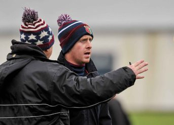 20 February 2016; Noel Fogarty, left, and Tom Byrnes, Our Ladys Templemore Management. Dr. Harty Cup Final, Ardscoil Ris v Our Ladys Templemore, McDonagh Park, Nenagh, Co. Tipperary. Picture credit: Sam Barnes / SPORTSFILE
