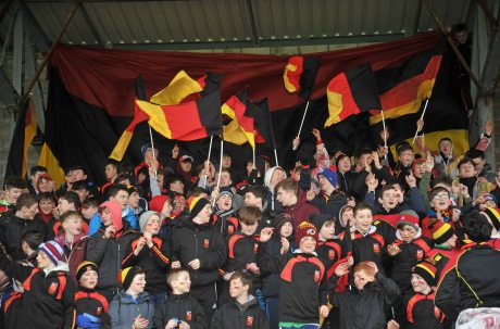 20 February 2016; Ardscoil Ris supporters before the game. Dr. Harty Cup Final, Ardscoil Ris v Our Ladys Templemore, McDonagh Park, Nenagh, Co. Tipperary. Picture credit: Sam Barnes / SPORTSFILE