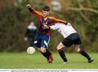 25 February 2016; Brian Nolan, University of Limerick, in action against Ayman Ben Mohamed, Dublin University AFC. Collingwood Cup Semi-Final, University of Limerick v Dublin University Association Football Club. The Farm, UCC, Cork. Picture credit: Eóin Noonan / SPORTSFILE