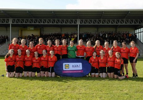 7 March 2016; The John The Baptist CS, Limerick, squad before the game. Lidl All Ireland Senior B Post Primary Schools Championship Final. Holy Rosary College Mountbellew, Galway, v John The Baptist CS, Limerick. Gort GAA, Gort, Co. Galway. Picture credit: Piaras î M'dheach / SPORTSFILE