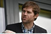 10 April 2016; Former Republic of Ireland player Kevin Kilbane at the game. FAI Junior Cup Semi-Final, Sheriff YC v Janesboro FC. Tolka Rovers Complex, Griffith Avenue, Dublin. Picture credit: Paul Mohan / SPORTSFILE