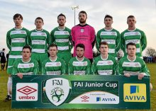 20 April 2016; The Pike Rovers team. The Final will take place at the Aviva Stadium on the 14th May. #RoadToAviva. FAI Junior Cup Semi-Final Replay in association with Aviva and Umbro, St. Peters FC v Pike Rovers. Leah Victoria Park, Tullamore, Offaly. Picture credit: Matt Browne / SPORTSFILE