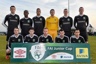 20 April 2016; The St. Peters FC team. The Final will take place at the Aviva Stadium on the 14th May. #RoadToAviva. FAI Junior Cup Semi-Final Replay in association with Aviva and Umbro, St. Peters FC v Pike Rovers. Leah Victoria Park, Tullamore, Offaly. Picture credit: Matt Browne / SPORTSFILE