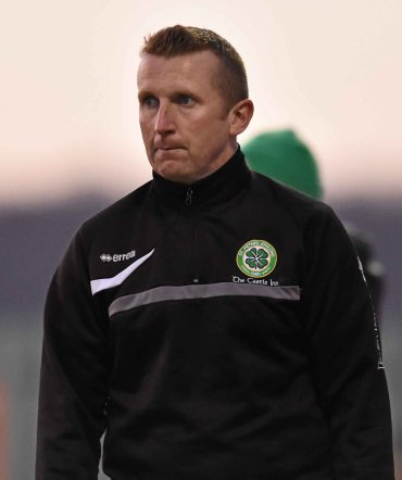 20 April 2016; St. Peters FC assistant manager Tommy Naughton. The Final will take place at the Aviva Stadium on the 14th May. #RoadToAviva. FAI Junior Cup Semi-Final Replay in association with Aviva and Umbro, St. Peters FC v Pike Rovers. Leah Victoria Park, Tullamore, Offaly. Picture credit: Matt Browne / SPORTSFILE