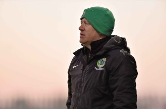 20 April 2016; St. Peters FC manager Philip Coffey. The Final will take place at the Aviva Stadium on the 14th May. #RoadToAviva. FAI Junior Cup Semi-Final Replay in association with Aviva and Umbro, St. Peters FC v Pike Rovers. Leah Victoria Park, Tullamore, Offaly. Picture credit: Matt Browne / SPORTSFILE