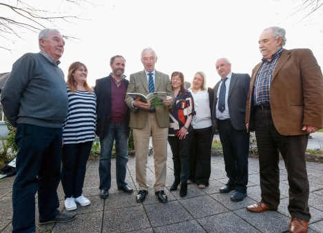 Limerick GAA launch their book On The Rise' at the Fitzgerald Woodlands House Hotel. Committee members Brian Kelly, Mary Hassett, Kevin Holmes, Breda Breen, Geraldine Neenan, Eamonn Phelan and Matt O'Callaghan, Editor and Chairman of the committee with Chairman of the County Board, Oliver Mann. Picture: Keith Wiseman