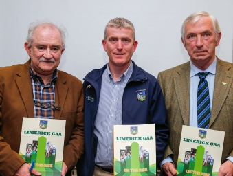 Limerick GAA launch their book On The Rise' at the Fitzgerald Woodlands House Hotel. Matt O'Callaghan, Editor and Chairman of the committee, John Kiely, Limerick Under 21 Team Manager and Chairman of the County Board, Oliver Mann and Eamonn Phelan. Picture: Keith Wiseman