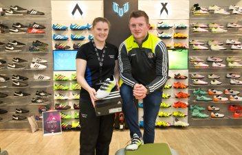 Elverys Galway Footbal and Hurling teams 8/4/2016 Joe Canning with Elvery's Mairead Coyne Mandatory Credit ©INPHO/Morgan Treacy
