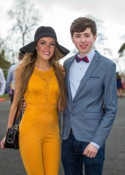 07.04.2016 REPRO FREE Limerick Racecourse welcomed thousands of students to yet another sell out student raceday at Greenmount Park sponsored by Coral.ie. Attending the event were Mary Immaculate College students, Brid Murphy and Eoin Moynihan. Picture: Alan Place/Fusionshooters
