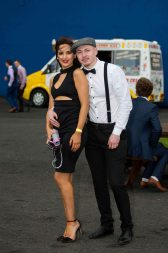 07.04.2016 REPRO FREE Limerick Racecourse welcomed thousands of students to yet another sell out student raceday at Greenmount Park sponsored by Coral.ie. Attending the event were University of Limerick students, Racha Mennad and Sully O'Sullivan. Picture: Alan Place/Fusionshooters