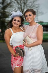 07.04.2016 REPRO FREE Limerick Racecourse welcomed thousands of students to yet another sell out student raceday at Greenmount Park sponsored by Coral.ie. Attending the event were Maria Joyce, Mary Immaculate College and Mired Cronin, University of Limerick. Picture: Alan Place/Fusionshooters