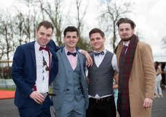 07.04.2016 REPRO FREE Limerick Racecourse welcomed thousands of students to yet another sell out student raceday at Greenmount Park sponsored by Coral.ie. Attending the event were University of Limerick students, Stewart Berns, Edward Fitzgibbon, Ronan O'Halloran and Pat Bones. Picture: Alan Place/Fusionshooters