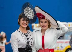 07.04.2016 REPRO FREE Limerick Racecourse welcomed thousands of students to yet another sell out student raceday at Greenmount Park sponsored by Coral.ie. Attending the event were Rachel Hastings, St. Angelas Sligo and Miriam Hastings, Mary Immaculate College. Picture: Alan Place/Fusionshooters