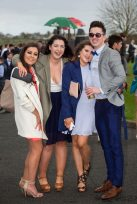 07.04.2016 REPRO FREE Limerick Racecourse welcomed thousands of students to yet another sell out student raceday at Greenmount Park sponsored by Coral.ie. Attending the event were, Jessica O'Brien, Mary Immaculate College, Sarah Carran, Sain Moriarty, NUIG and Cameron Stephenson. Picture: Alan Place/Fusionshooters